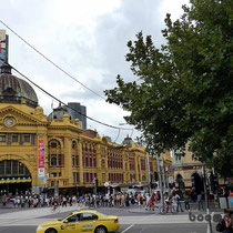die Flinders Station Melbourne
