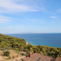 View over Brac and Hvar in the background