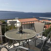 Der Balkon mit schöner Aussicht