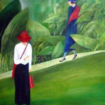 Die Verabredung | Mixed Media auf Leinwand | 100 x 120 cm | 2011