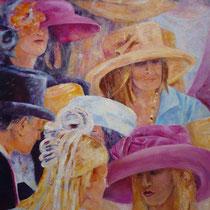 Beim Derby | Mixed Media auf Leinwand | 90 x 90 cm | 2008