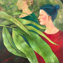 Gardenladies | Triptychon | Mixed Media auf Leinwand | 280 x 90 cm | 2011