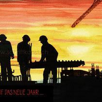 Weihnachtskarte für Bauunternehmen