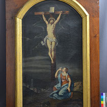 Vorzustand Altarblatt Huerten-Museum Bad Münstereifel; Photo: G. Hoensbroech, Restaurierungsatelier Conservatio Artis, Köln