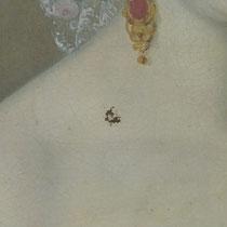 Vorzustand Damenporträt, Leinwandgemälde, Privatbesitz; Photo: G. Hoensbroech, Restaurierungsatelier Conservatio Artis, Köln