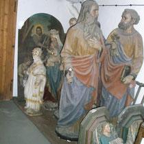 Heiligenversammlung im Depot, Privatbesitz; Photo: G. Hoensbroech, Atelier Restaurator Schneider, Köln