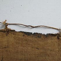 """Reste der """"holländischen Spannmethode"""" Altarblatt Huerten-Museum Bad Münstereifel; Photo: G. Hoensbroech, Restaurierungsatelier Conservatio Artis, Köln"""