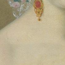Endzustand Damenporträt, Leinwandgemälde, Privatbesitz; Photo: G. Hoensbroech, Restaurierungsatelier Conservatio Artis, Köln