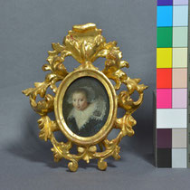 Endzustand gerahmt, Miniatur auf Kupfer, Privatbesitz; Photo: G. Hoensbroech, Restaurierungsatelier Conservatio Artis, Köln
