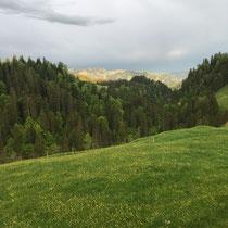 Blick auf die anderen Alpen