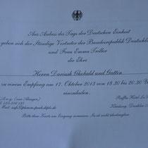 Die lang ersehnte Einladung für Herrn Ghobald (!)