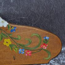Schlüsselbrett mit Bauernmalerei