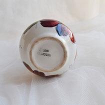 Mediterrane Vase weiß-rot