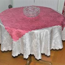 Tischdecke rund ecru
