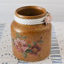 Utensilo (1) braun mit Blumen