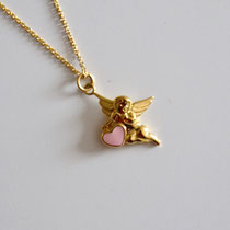 Halskette mit Anhänger Engel mit Herz