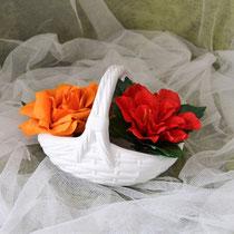 Keramikkorb für Blumendeko