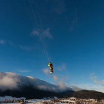 vol de pente snowkite/ Photo Pascal Conche