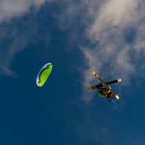 vol de pente snowkite / photo Pascal Conche