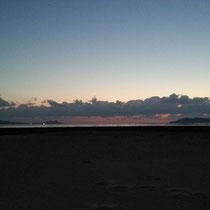 朝日が上る前、キレイでした