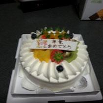 最後はケーキで(^^♪