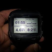 1時間55分で4.07キロ
