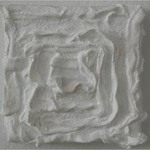 Gips auf Leinwand 10 x 10 cm, 2009