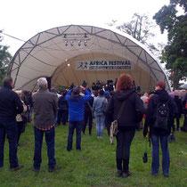 Bühnenprogramm auf dem Africa Festival