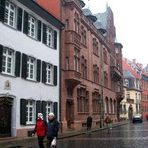 Straße mit den berühmten Freiburger Bächle