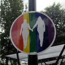 Schild zur Reykjavík Gay Pride