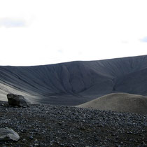 Das Innere des Kraters
