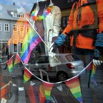Überreste der Reykjavík Gay Pride