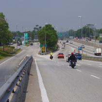 voorsorteren op de autostrade richting Kuala Lumpur - Maleisië
