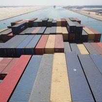 doorsteek door het Suez-kanaal - Egypte
