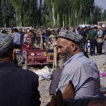 veemarkt in Kashgar - Oeigoers gebied