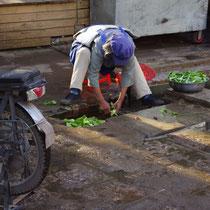sla wassen in Lijang - China