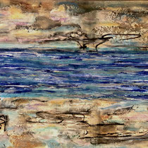 """""""SEA INTO SKY""""   (18x24) mixed water media on paper  $500"""