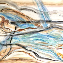 """""""TIDE RISING""""  (18 x 24)  mixed water media on paper  $500"""