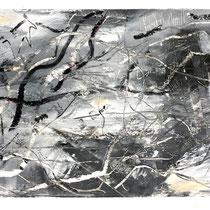 """MAUI WATERFALLS IV"" (6X9) cold wax/oil on paper $75"
