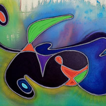 """DANCE THE TIDES""   (34x28)    $2500."