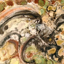 """""""MINERAL POOLS II""""   (8.5 x 11 matted to 16x20)    $150."""