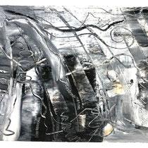 """""""MAUI WATERFALLS II"""" (6X9) cold wax/oil on paper $75"""