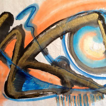 """""""SOLAR STORM""""  (11x14 matted to 16x20)   $200."""