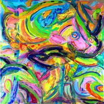 """SEA OF LOVE""  (60x60)  SOLD"