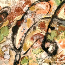 """""""MINERAL POOLS III""""   (8.5 x 11 matted to 16x20)    $150."""