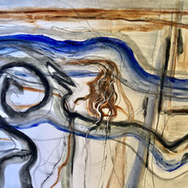 """""""NORTH SHORE SWELL""""  (18x24) combined media on paper $500"""