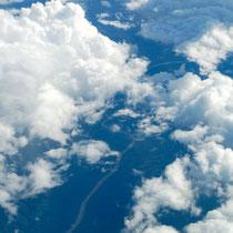 インドシナ半島上空