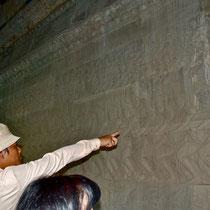 第一回廊の壁画(乳海撹拌)