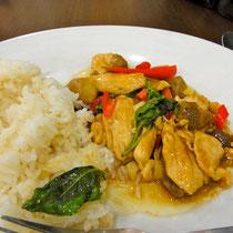 バンコク空港レストランでの食事