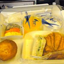 バンコクエアーの機内食